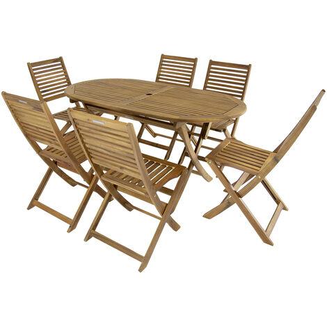 Bentley Garden Gartenmobel Set Aus Holz Ovaler Tisch Mit