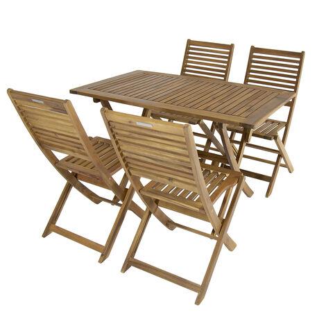 Bentley Garden Gartenmobel Set Aus Holz Rechteckiger Tisch 4