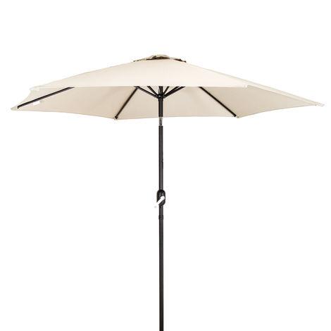Bentley Garden - Parasol avec manivelle pour jardin - métal - Beige