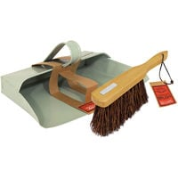 "Bentley Heritage Home Cleaning Metal 11"" Dustpan and Stiff Brush Set"