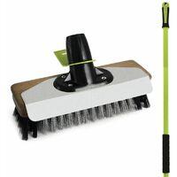 "Bentley National Trust Garden 9"" Wire Broom With Pvc Patio Brush With Handle"