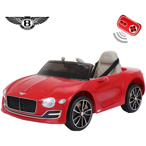 Bentley Official Licensed EXP12 Series 12V Electric Kids Ride On Cars Parental Remote, Mp3 Player, LED Light, Red