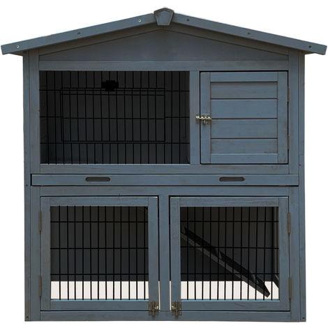 Bentley Pets - Jaula dúplex para roedores / conejos / cobayas - 3 compartimentos