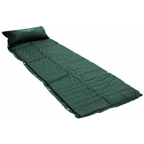Bentley Self Inflating Camping Roll Mat With Pillow - Blue Grey Green & Black