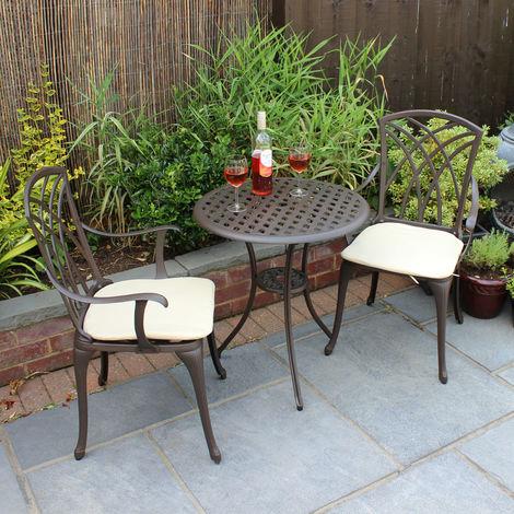 Bentley set 3 mobili da giardino 1 tavolo e 2 sedie con for Ingrosso mobili da giardino