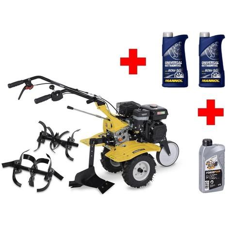 BENZIN Motorhacke Gartenfräse Kultivator Bodenfräse Pflug Motoröl Getriebeöl