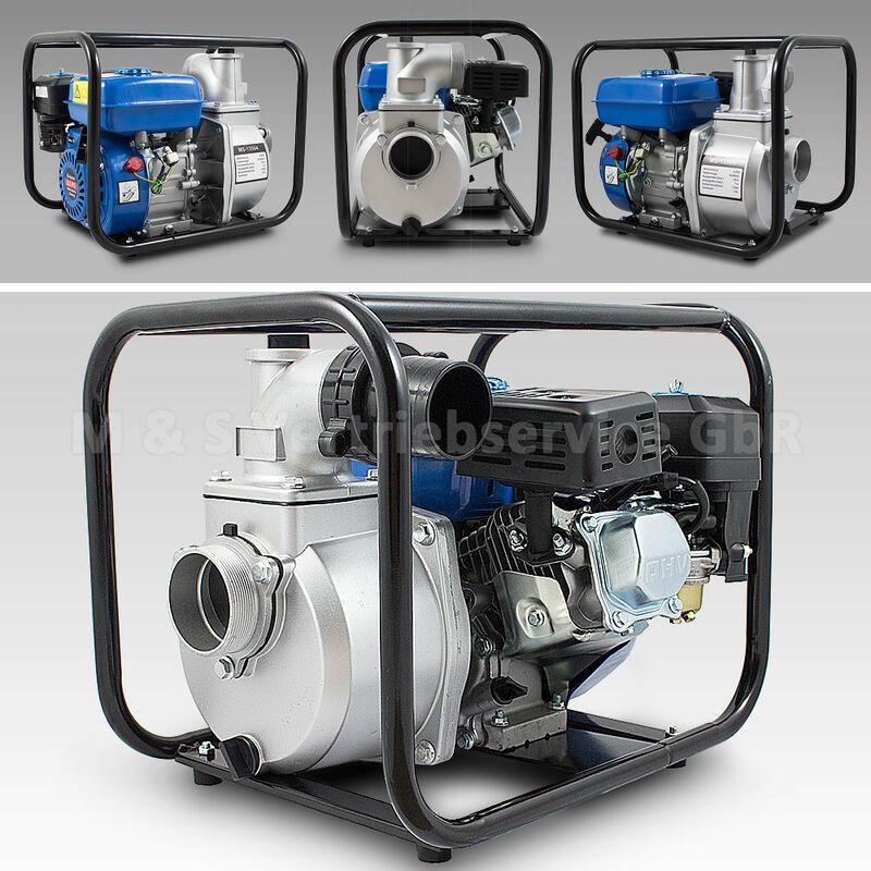 60.000 l//h Benzin Wasserpumpe 6,5 PS Gartenpumpe Motor Pump 3/'/' Zoll mit Zubehör