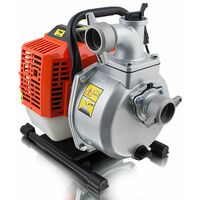 Benzin Wasserpumpe 43ccm Motorpumpe Benzinwasserpumpe Gartenpumpe Garten bis 15000 Liter/h 1,5 Zoll Pumphöhe 35m 1,7PS