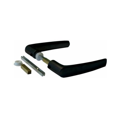 Béquille double alu 1166 1 porte avec fourreau carré 6x100 et 7x100 DUVAL BILCOCQ - 36-0123-2612