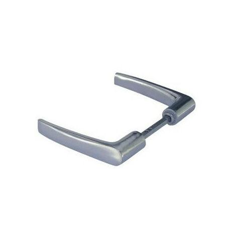Béquille double aluminium poli carré 6 mm fourreau 6 à 7 mm