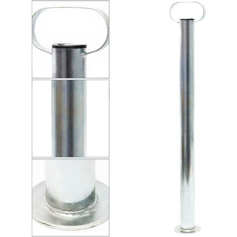 Béquille pour Remorque Support de fixation 700mm x ⌀48mm avec Poignée Pied de stabilisation
