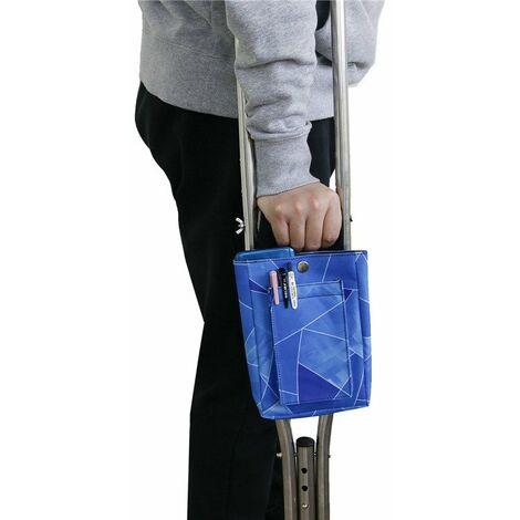 Béquilles pour Sac De Béquilles Poignée De Béquille pour Adultes Béquilles De Poche De Rangement pour Sac De Béquilles Médical Aux Aisselles(bleu)