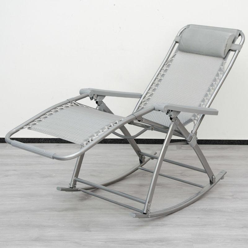 inclinableavec Berceuse pliable pieds et dossier berçante de chair Chaise et à longue AMANKATransat repose bascule réglable jardinRocking de hdtsQCBorx