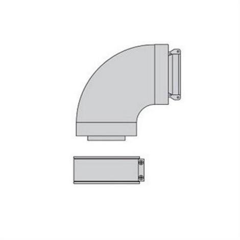 Beretta 1100089 - Coude Alu Fumisterie 90° 60/100 Standard