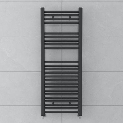 Bergen 1200 x 450mm Straight Grey Towel Radiator
