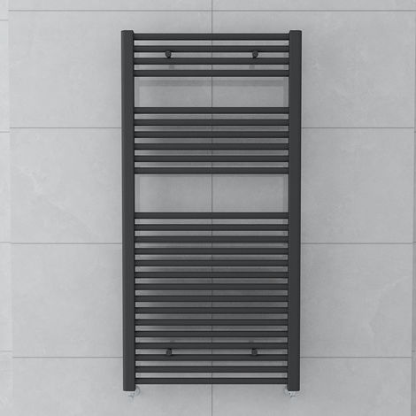Bergen 1200x600mm Straight Grey Towel Radiator
