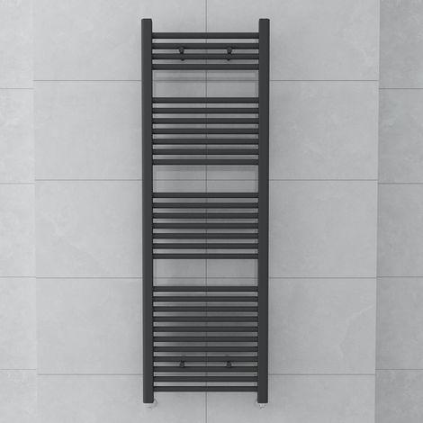 Bergen 1500 x 500mm Straight Grey Towel Radiator