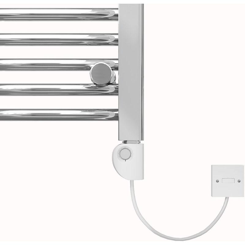 Bergen Straight Grey Heated Towel Rail Radiators Modern Bathroom