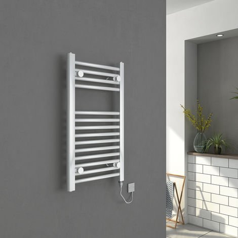 Bergen 700 x 400mm Straight White Electric Heated Towel Rail - please select - please select