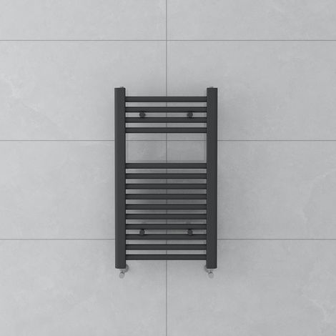 Bergen 700x400mm Straight Grey Towel Radiator