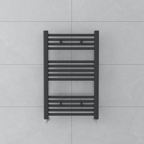 Bergen 800 x 500mm Straight Grey Towel Radiator