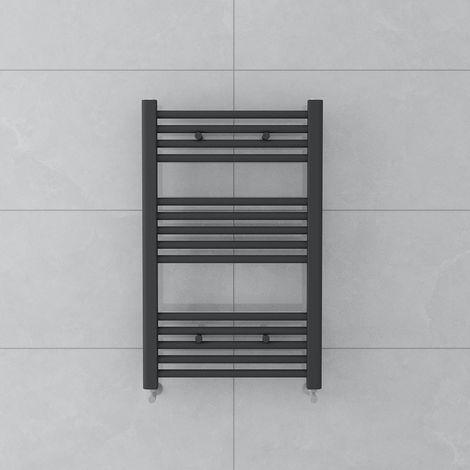 Bergen 800 x 500mm Straight Grey Towel Radiator