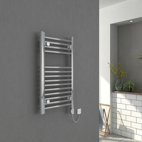 Bergen Elektrischer Handtuchheizkörper 700 x 400 Chrom mit Chrom Thermostat