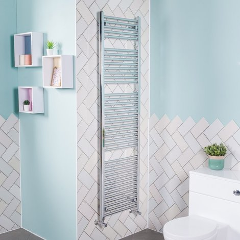 Bergen Straight Chrome Heated Towel Rail