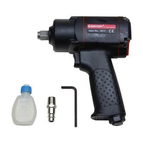 "BERGEN Tools 1/2"" Mini Air Impact Wrench Gun 380Nm 280ft/lb 8511"