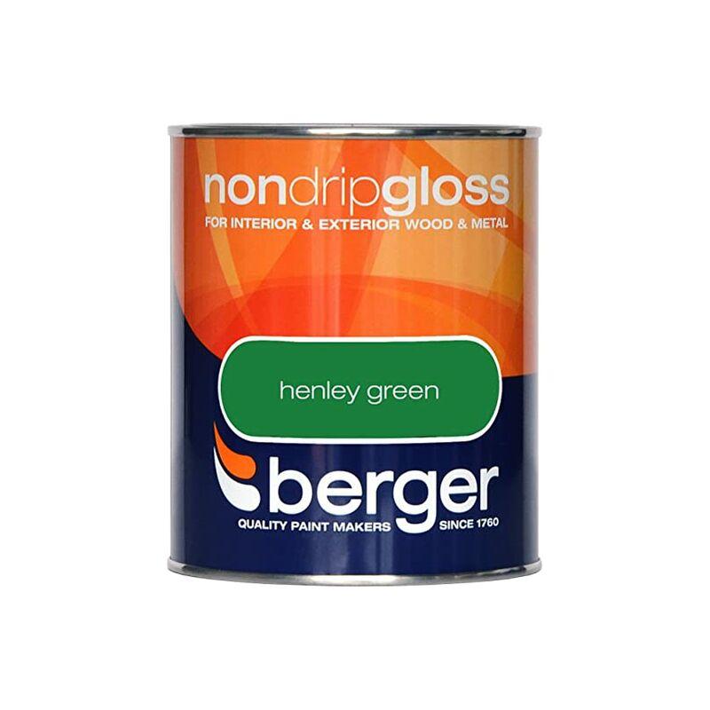 Image of Berger Non Drip Gloss 750ml Henley Green