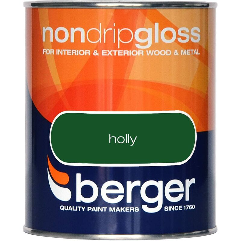 Image of Berger Non Drip Gloss 750ml Holly (306026)