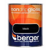 Berger Non Drip Gloss Black 750ml