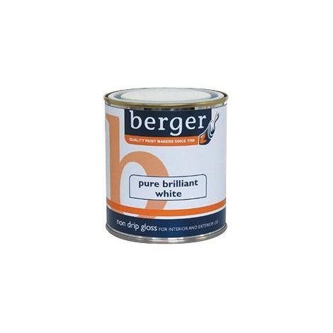 Berger Non Drip Gloss Brilliant White / Black Paint- All Sizes/Colours Stocked