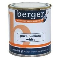 Berger Non Drip Gloss Brilliant White Paint- 1.25L Litres