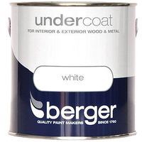 Berger Undercoat Pure Brilliant White Paint - 1.25 Litre