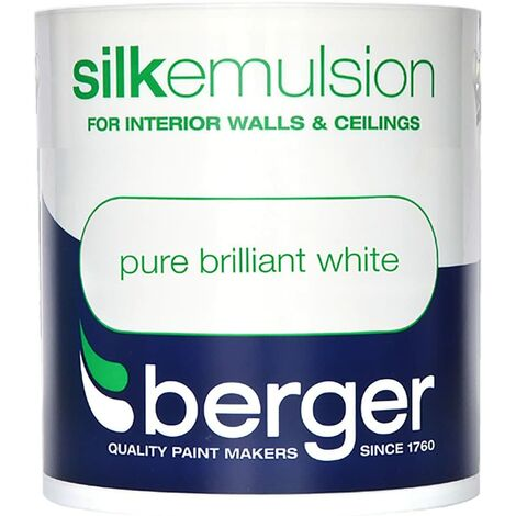 Berger Vinyl Silk 1L Pure Brilliant White