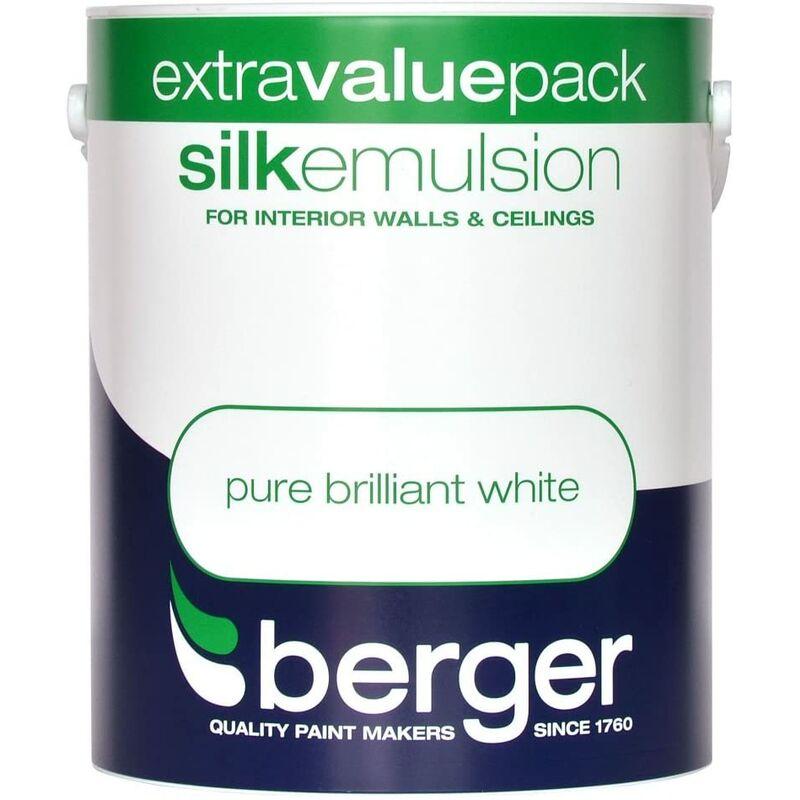 Image of Berger Vinyl Silk 3L Pure Brilliant White