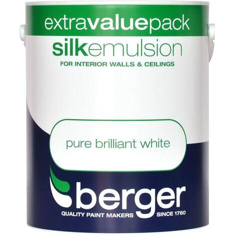 Berger Vinyl Silk 3L Pure Brilliant White
