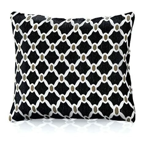 """Berkeley 18"""" Black Cushion Cover Bed Sofa Accessory Unfilled"""