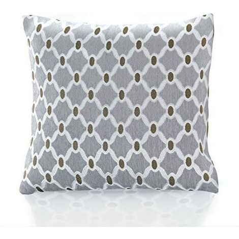 """Berkeley 18"""" Silver Cushion Cover Bed Sofa Accessory Unfilled"""