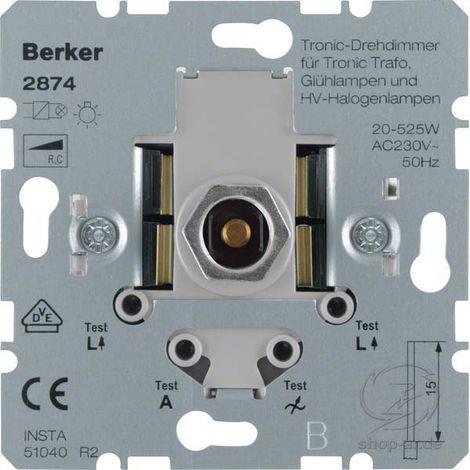 BERKER LIGHT CONTROL Dimmer Dreh-/Druckknopf 20-525W kapazitive Last Unterputz