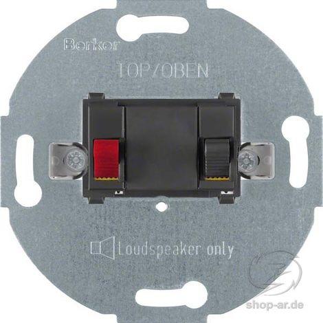 BERKER MODUL-EINSÄTZE Tragring Lautsprecheranschluss anthrazit matt Krallen-/Schraubbefestigung ohne Beschriftungsfeld