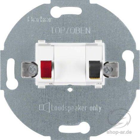 BERKER MODUL-EINSÄTZE Tragring Lautsprecheranschluss polarweiß Krallen-/Schraubbefestigung ohne Beschriftungsfeld