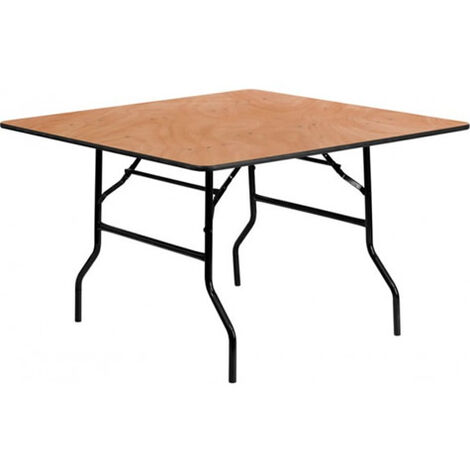 Berkwood Square Plywood Folding, Banqueting Table - 2Ft 6In (76Cm) - Fully Assembled