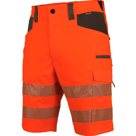 Bermuda de travail haute-visbilité EN 20471 1 Neon Würth MODYF orange anthracite