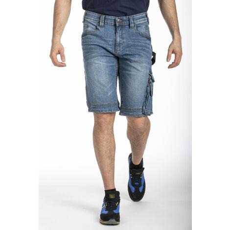 Bermuda de travail jean multi-poches stretch SUNJOBA RICA LEWIS - plusieurs modèles disponibles