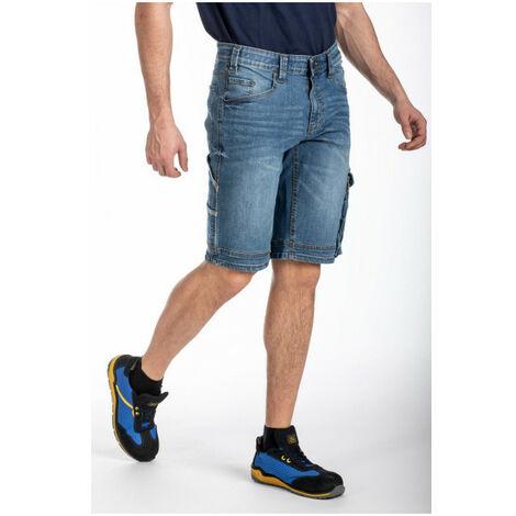 """main image of """"Bermuda de travail jean multi-poches stretch SUNJOBA RICA LEWIS - plusieurs modèles disponibles"""""""