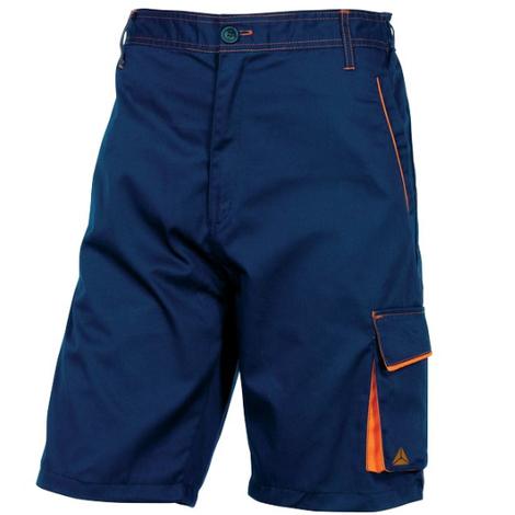 "main image of ""Bermuda de travail Mach Corporate - Delta Plus - Bleu marine/Orange - Taille L"""