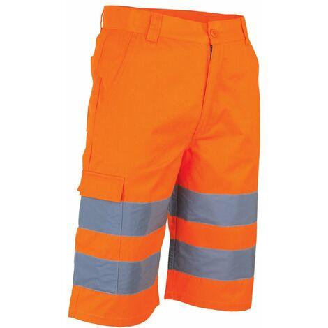 Bermuda haute visibilité LMA PHARE Orange Fluo