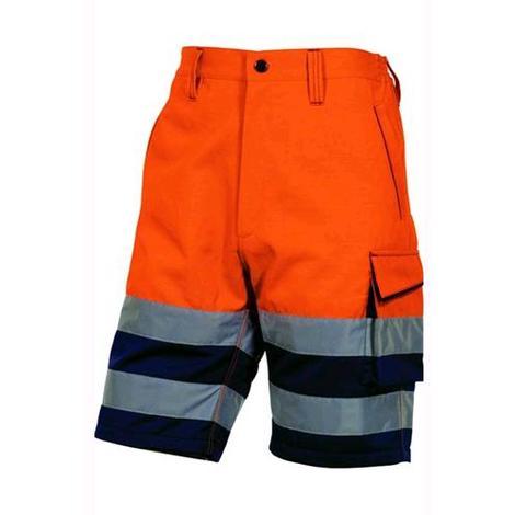 Bermuda pantaloni corti uomo pantaloncini lavoro alta visibilità fluorescenti